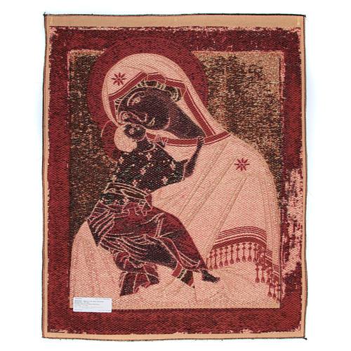 Arazzo Madonna Madre di Dio della Tenerezza cm 90x70 2