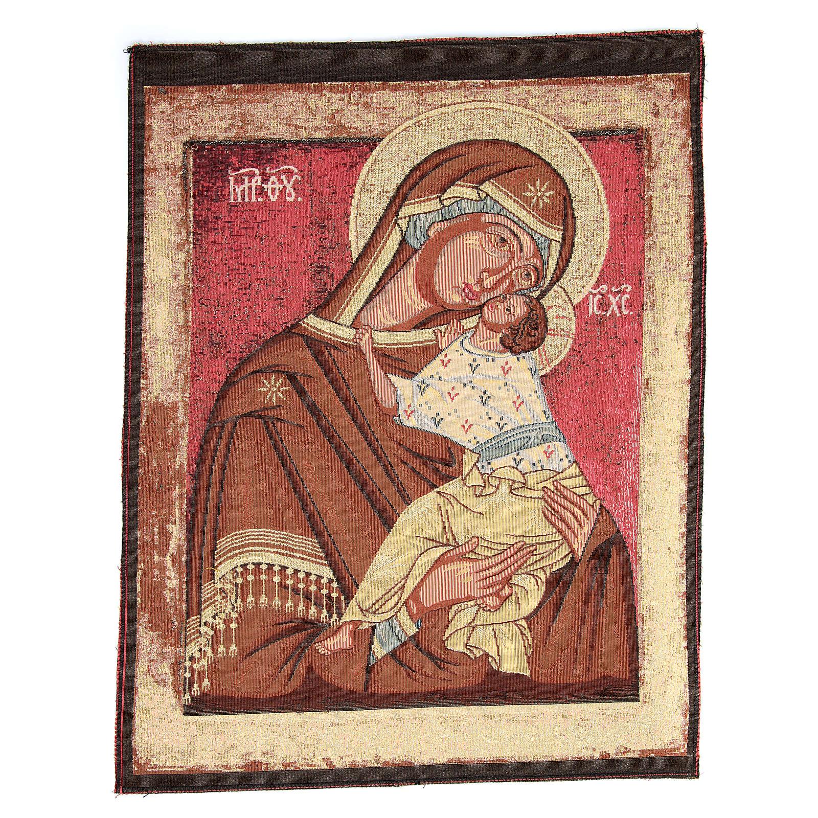 Arazzo ispirato alla Madonna Madre di Dio della Tenerezza cm 60x45 3