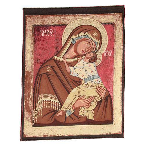 Arazzo ispirato alla Madonna Madre di Dio della Tenerezza cm 60x45 1