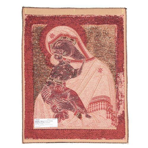 Arazzo ispirato alla Madonna Madre di Dio della Tenerezza cm 60x45 2