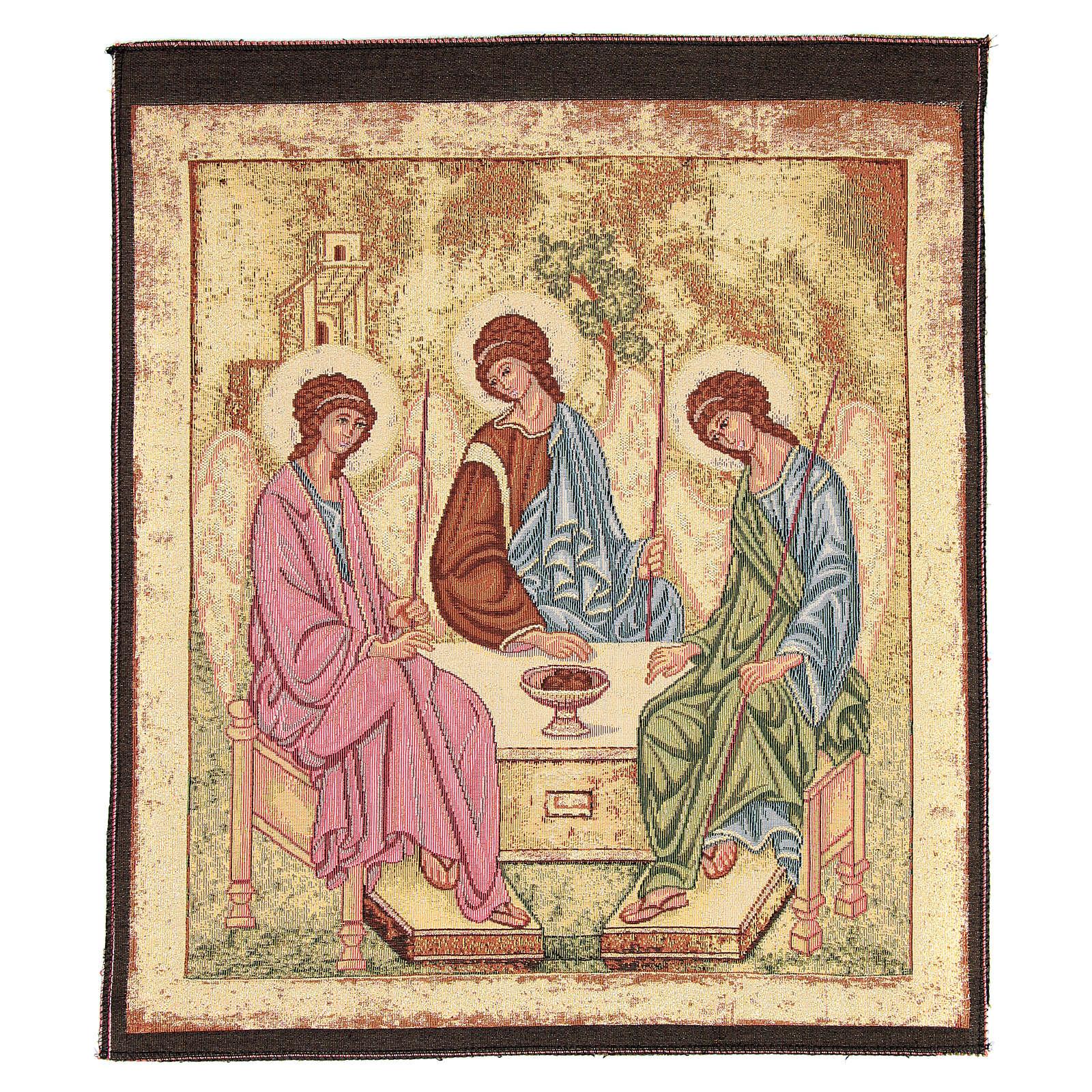 Arazzo ispirato alla Trinità dell'Antico Testamento cm 45x55 3