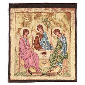 Arazzo ispirato alla Trinità dell'Antico Testamento cm 45x55 s1