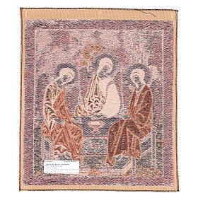 Arazzo ispirato alla Trinità dell'Antico Testamento cm 45x55 s2