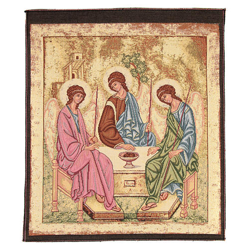 Arazzo ispirato alla Trinità dell'Antico Testamento cm 45x55 1