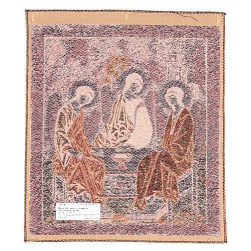 Arazzo ispirato alla Trinità dell'Antico Testamento cm 45x55 2