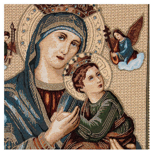 Tapiz Virgen del Perpetuo Socorro 60x45 cm 2