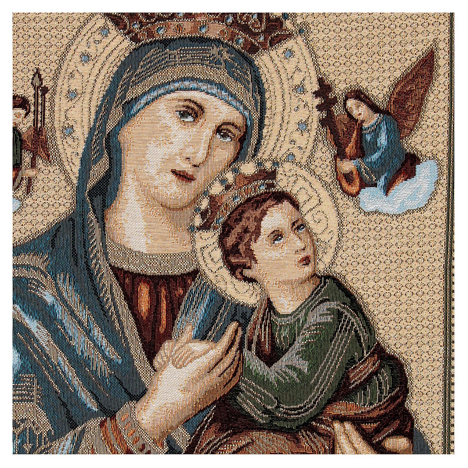 Arazzo Madonna Mutuo Soccorso 60x45 cm 3