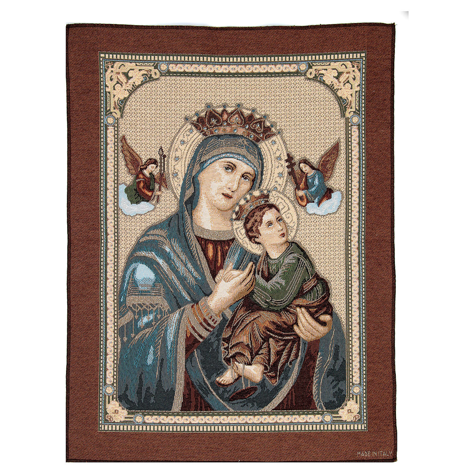 Our Lady of Perpetual Help tapestry measuring 60x45cm 3