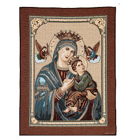 Our Lady of Perpetual Help tapestry measuring 60x45cm s1