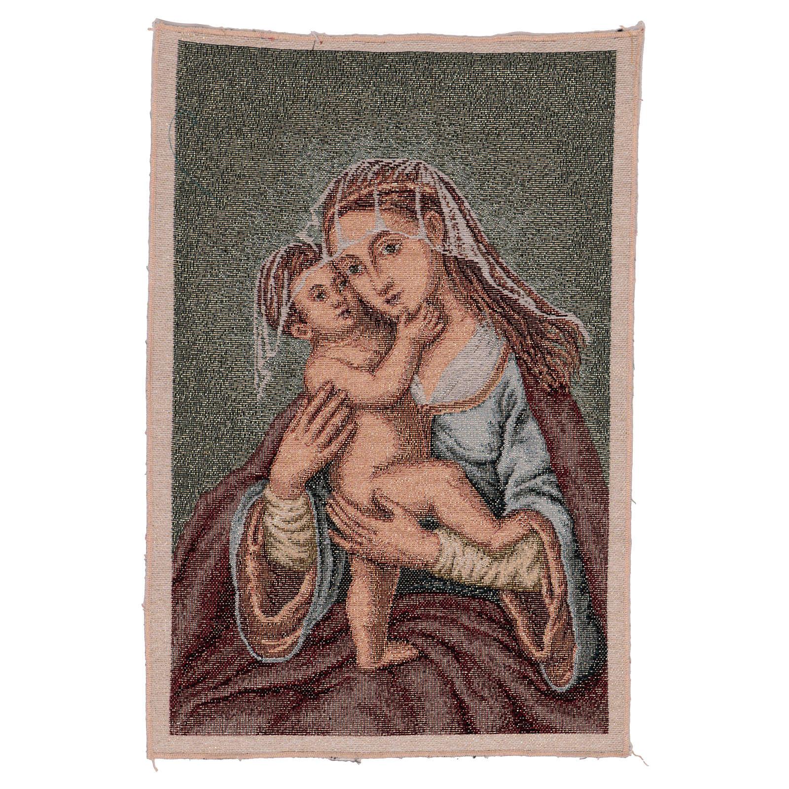 Arazzo Madonna dell'Aiuto 40x30 cm 3