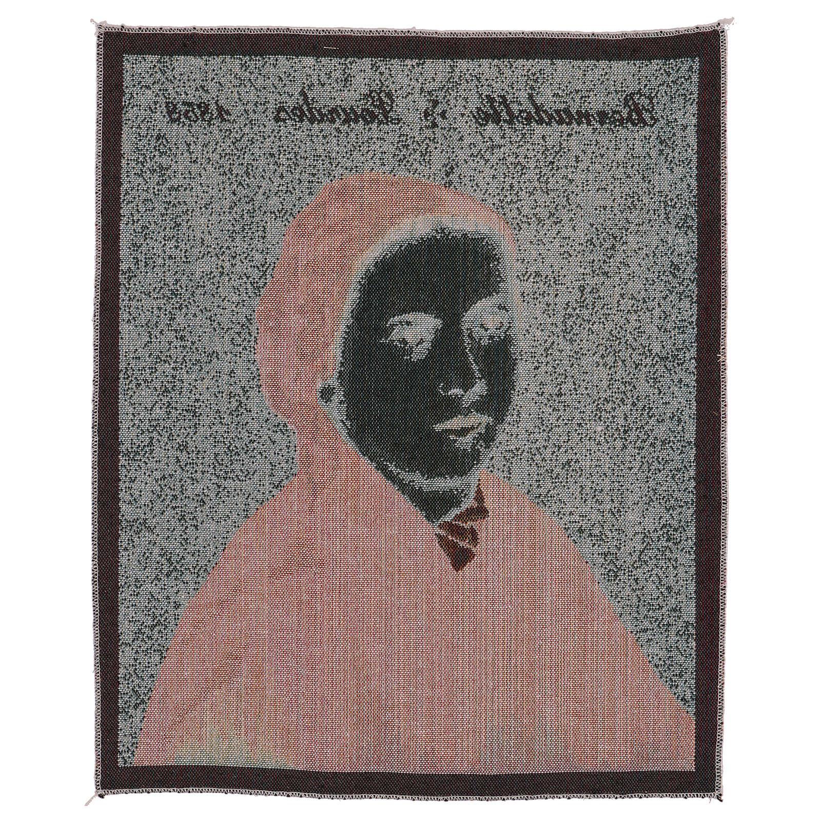 Arazzo Bernadette di Soubirous 50x40 cm 3