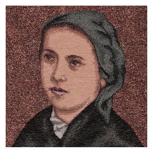 Arazzo Bernadette di Soubirous 50x40 cm 2