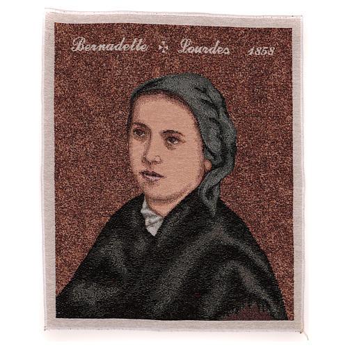 "Saint Bernardette tapestry 19.5x16"""