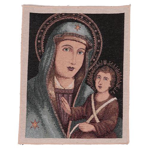 Arazzo Beata Vergine delle Grazie 40x30 cm 1