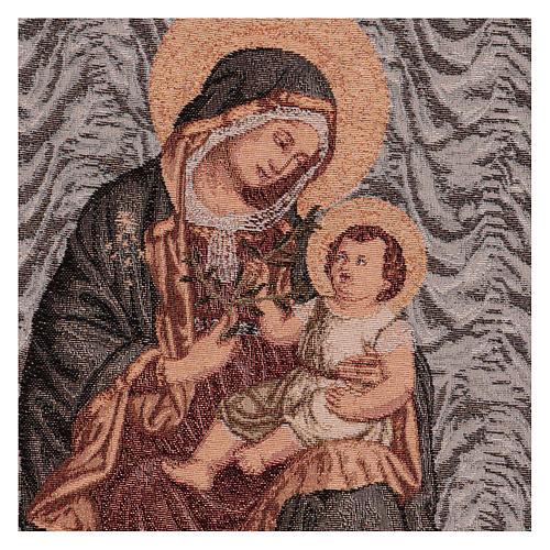 Tapiz Virgen de la Paz 50x40 cm 2