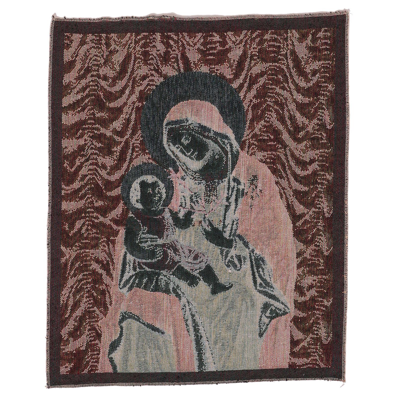 Arazzo Madonna della Pace 50x40 cm 3