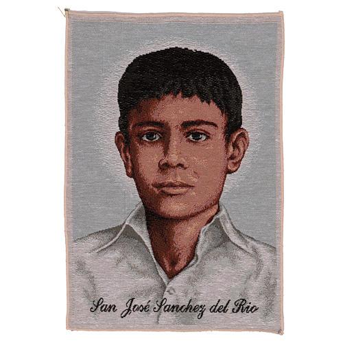 Gobelin Św. Józef Sanchez del Rio 45x30 cm 1