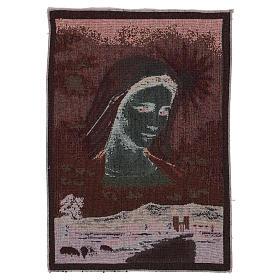 Tapiz Virgen de Medjugorje y paisaje 40x30 cm s3