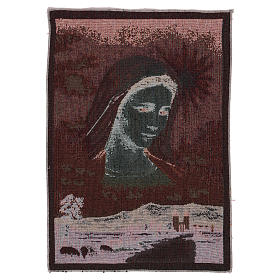 Tapisserie Notre-Dame de Medjugorje et paysage 40x30 cm s3