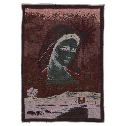 Arazzo Madonna di Medjugorje e paesaggio 40x30 cm 3