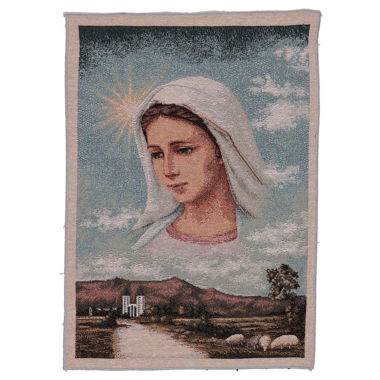 Tapeçaria Nossa Senhora de Medjugorje e paisagem 40x30 cm 3
