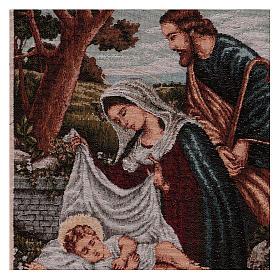 Arazzo Santa Famiglia con mangiatoia 40x30 cm s2