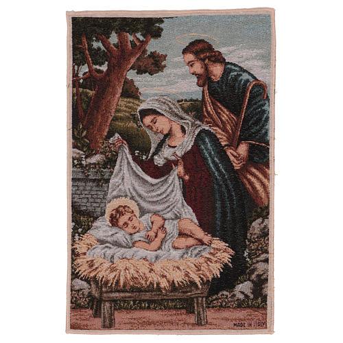 Arazzo Santa Famiglia con mangiatoia 40x30 cm 1