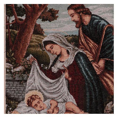 Arazzo Santa Famiglia con mangiatoia 40x30 cm 2