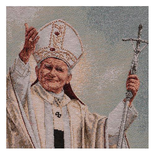Gobelin Papież Jan Paweł II z pastorałem 40x30 cm 2