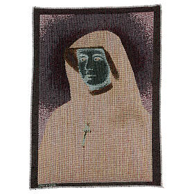 Tapiz Santa Faustina 40x30 cm s3