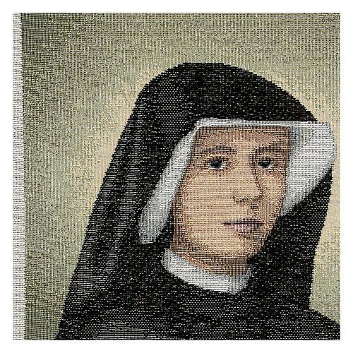 Tapiz Santa Faustina 40x30 cm 2