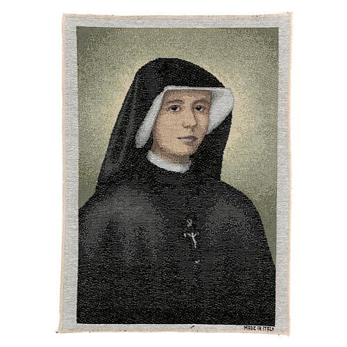Saint Faustina Kowalska tapestry 16x12