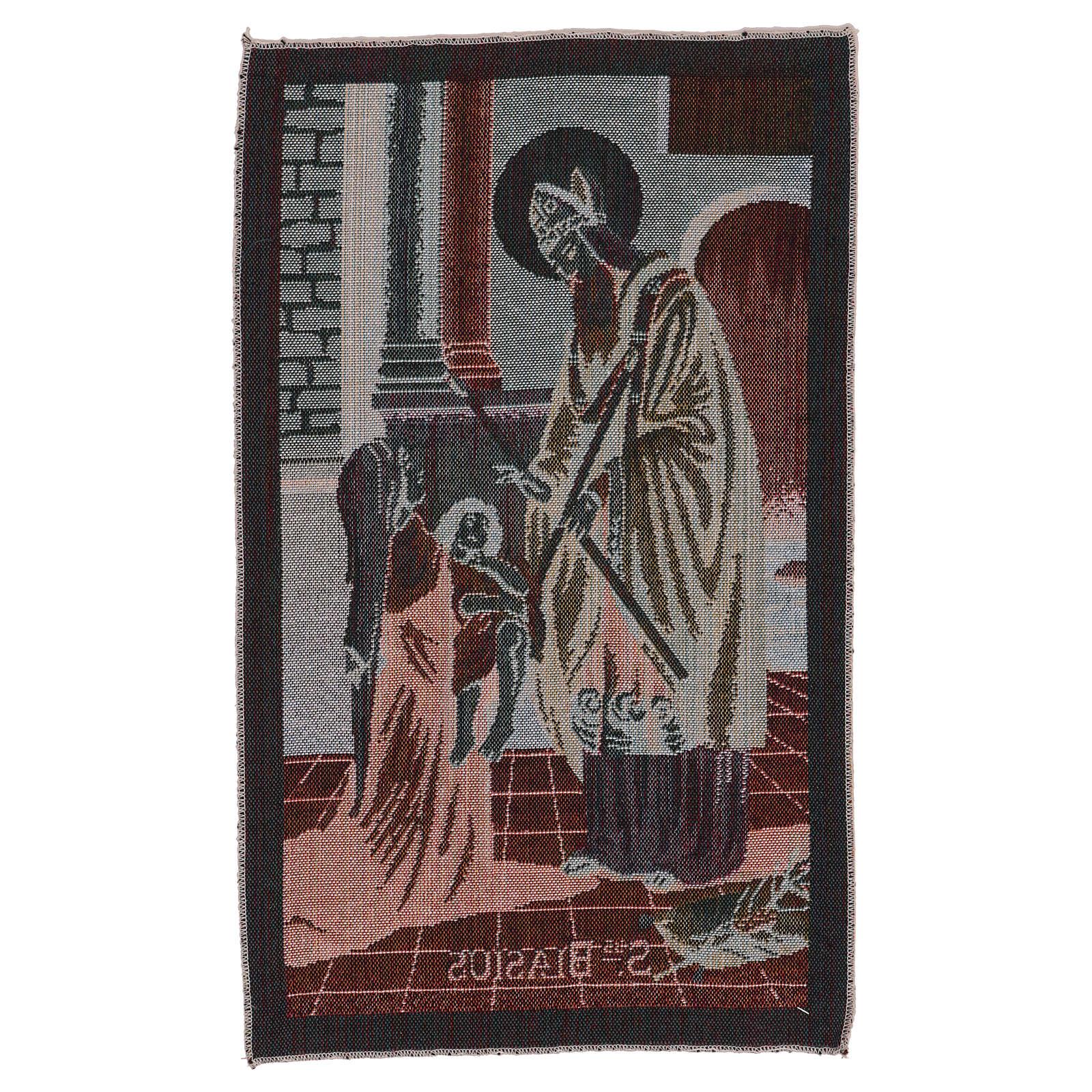 Saint Blaise tapestry 50x30 cm 3