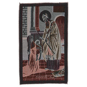 Saint Blaise tapestry 50x30 cm s3