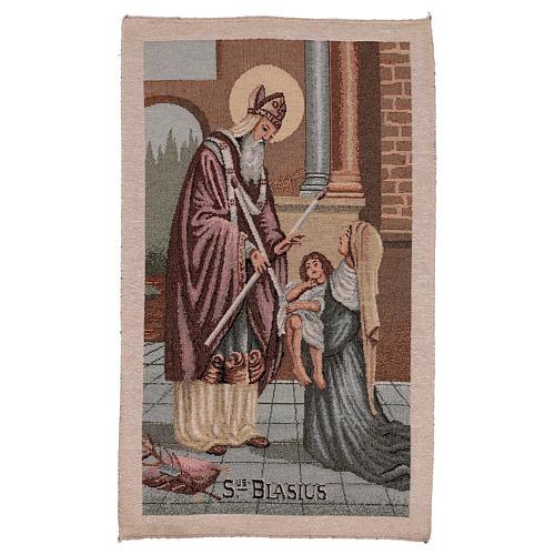 Saint Blaise tapestry 50x30 cm 1