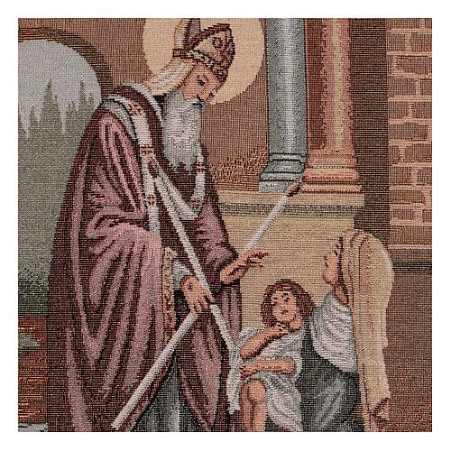 Saint Blaise tapestry 50x30 cm 2