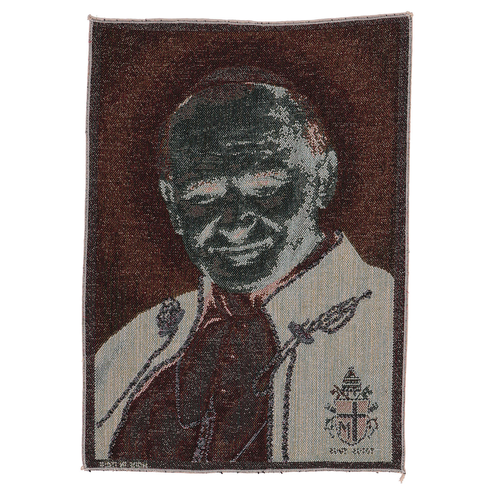 Pope John Paul II tapestry with emblem 40x30 cm 3