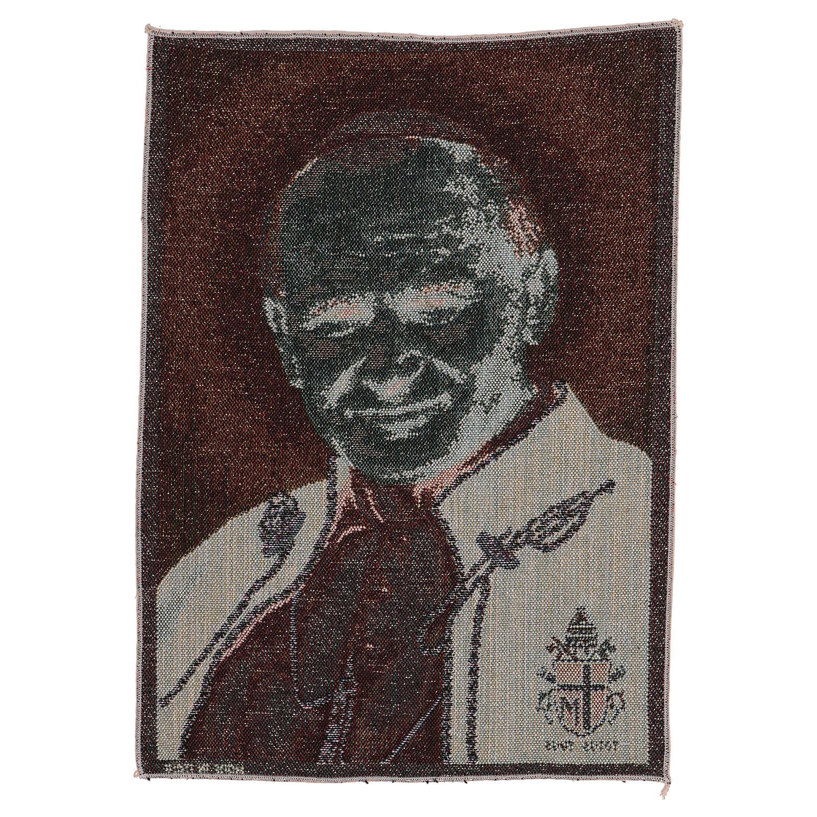 Gobelin Papież Jan Paweł II z herbem 40x30 cm 3