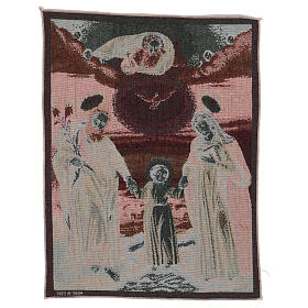 Polish Holy Family tapestry 19.5x16