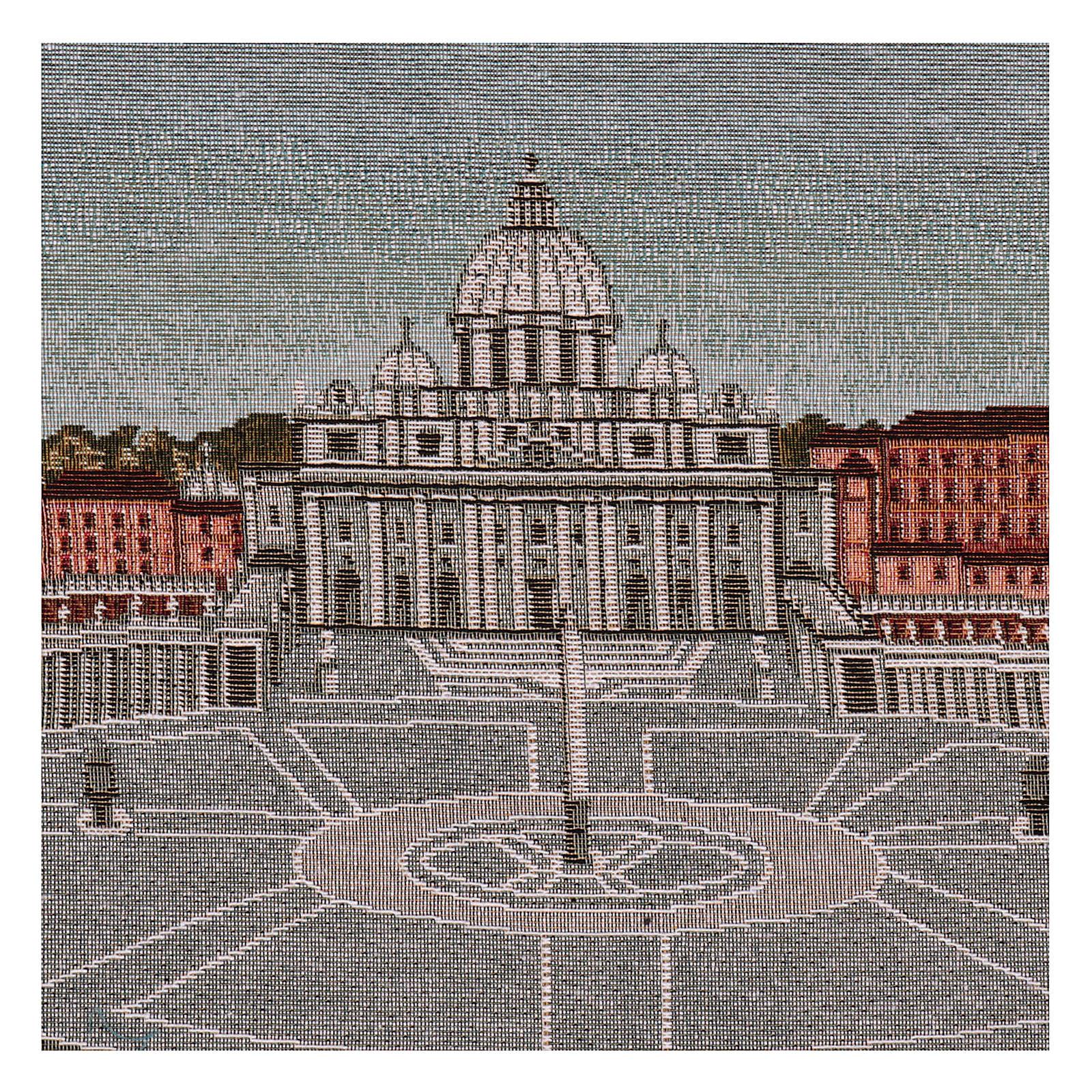 Arazzo Piazza San Pietro 35x60 cm 3