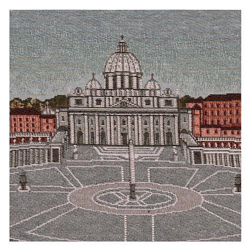 Arazzo Piazza San Pietro 35x60 cm 2