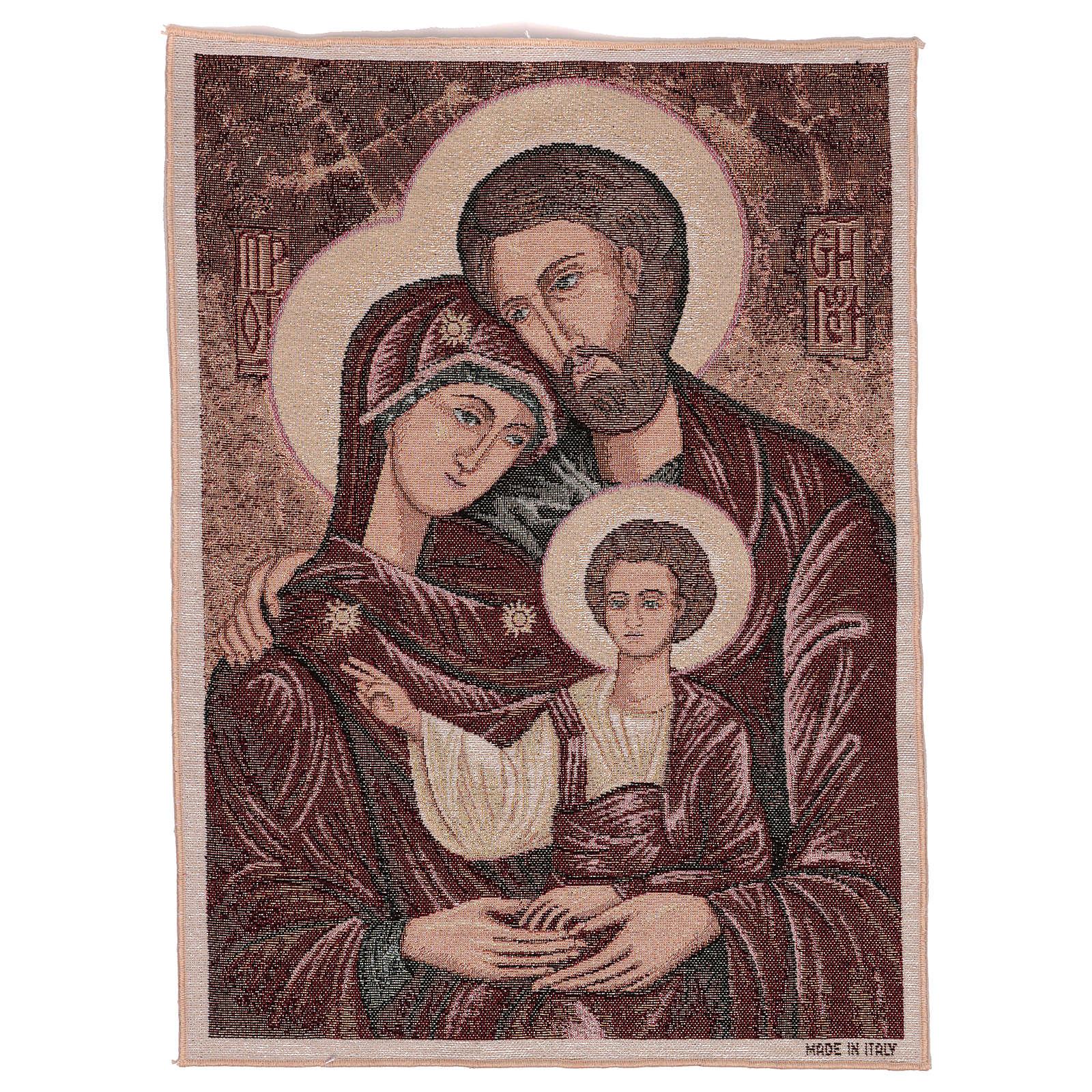 Arazzo Santa Famiglia Bizantina 50x40 cm 3