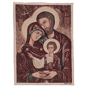 Arazzo Santa Famiglia Bizantina 50x40 cm s1