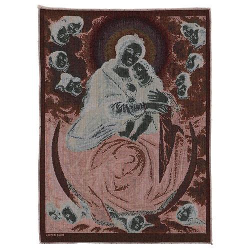 Arazzo Madonna con Bambino di Salvi 55x40 cm 3