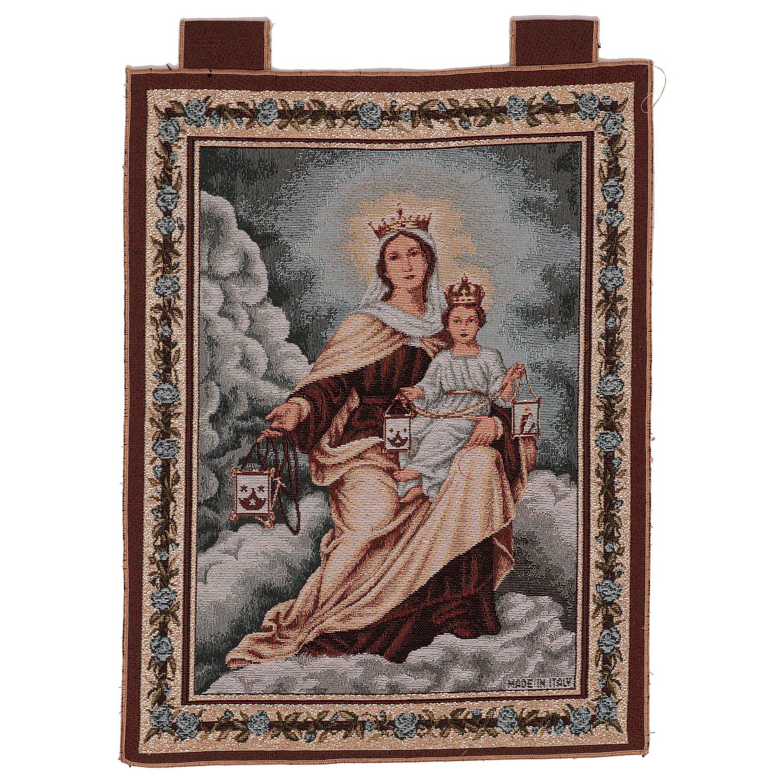 Our Lady of Mount Carmel tapestry 50x40 cm 3