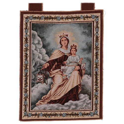 Our Lady of Mount Carmel tapestry 50x40 cm 1