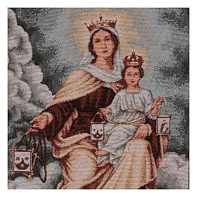 Tapiz Virgen del Monte Carmelo 50x40 cm s2