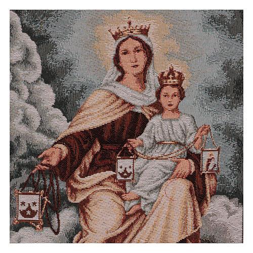 Arazzo Madonna del Monte Carmelo 50x40 cm 2