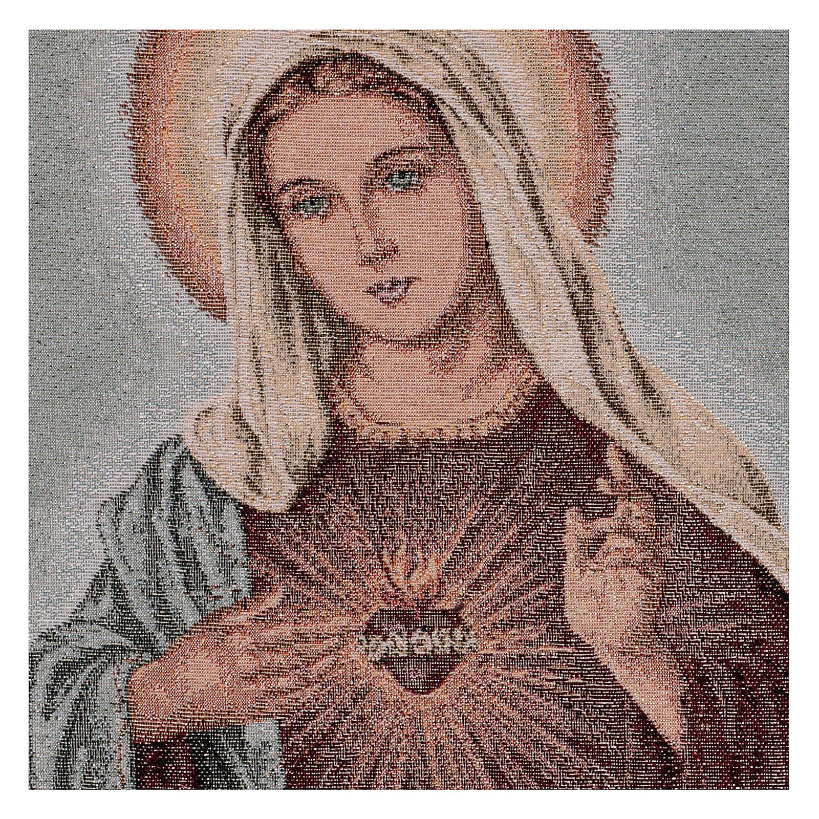 Tapiz Sagrado Corazón de María 50x40 cm 3