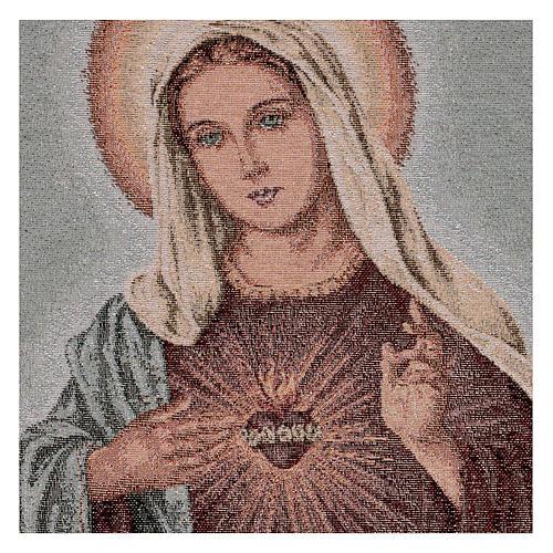 Arazzo Sacro Cuore di Maria 55x40 cm 2